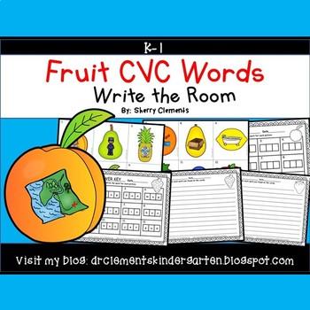 Fruit Write the Room CVC Words