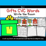 Gifts Write the Room CVC Words