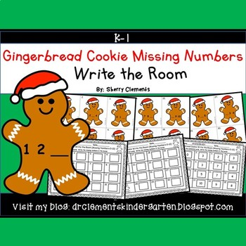 Gingerbread Cookie Write the Room (Missing Numbers 0-10)