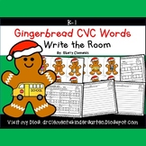 Gingerbread Write the Room (CVC Words)