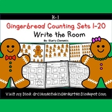 Gingerbread Write the Room Counting Sets 1-20