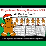 Gingerbread Write the Room Missing Numbers 11-20