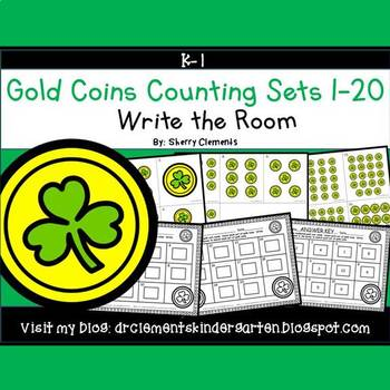 Gold Coins Write the Room (Counting Sets 1-20)