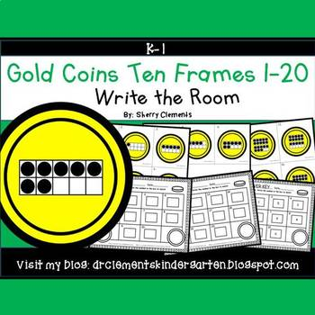 Gold Coins Write the Room (Ten Frames 1-20)