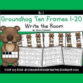 Groundhog Write the Room (Ten Frames 1-20)