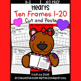 Hearts Ten Frames 1-20 (Cut and Paste)