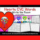 Hearts Write the Room (CVC Words)