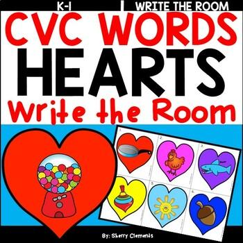 Hearts Write the Room (CVC Words)
