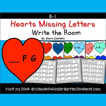 Hearts Write the Room (Missing Letters)