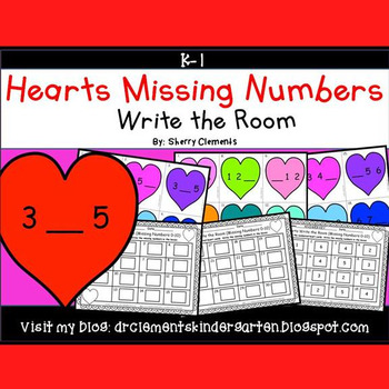 Hearts Write the Room (Missing Numbers 0-10)