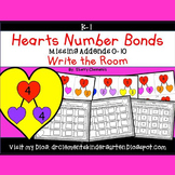 Hearts Write the Room Number Bonds (Missing Addends 0-10)