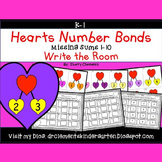 Hearts Write the Room Number bonds (Missing Sums 1-10)