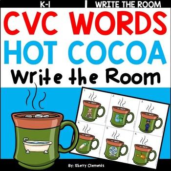 Hot Cocoa Write the Room (CVC Words)