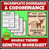 Incomplete & Codominance - Christmas Punnett Squares Worksheet