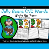 Jelly Beans Write the Room (CVC Words)