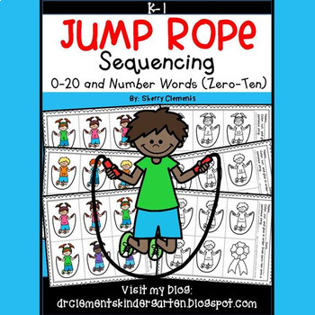 Jump Rope Sequencing 0-20 and Number Words (zero-ten)