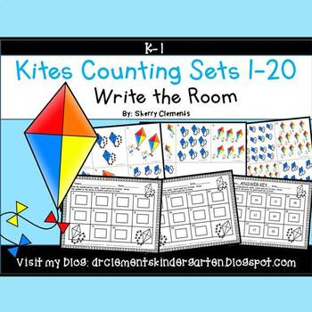 Kites Write the Room (Counting Sets 1-20)