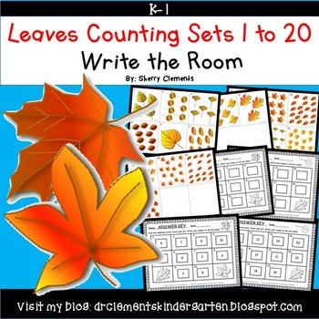 Leaves Write the Room Counting Sets 1-20