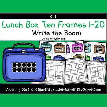 Lunch Box Write the Room (Ten Frames 1-20)
