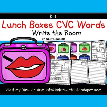 Lunch Boxes Write the Room (CVC Words)
