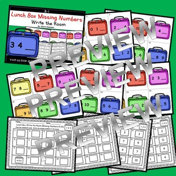 Lunch Boxes Write the Room (Missing Numbers 0-10)