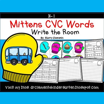 Mittens Write the Room (CVC Words)