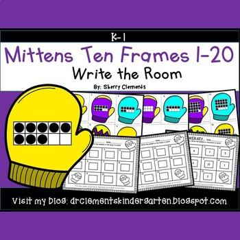 Mittens Write the Room (Ten Frames 1-20)