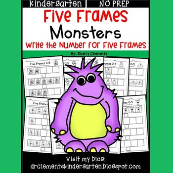 Monsters (Five Frames) (Write the number for the five frame)