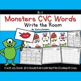 Monsters Write the Room CVC Words