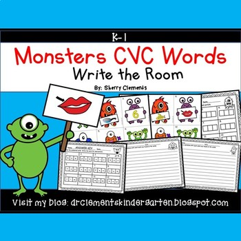 Monsters Write the Room CVC Words