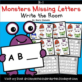 Monsters Write the Room Missing Letters