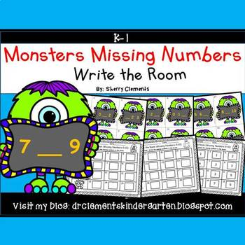 Monsters Write the Room (Missing Numbers 0-10)