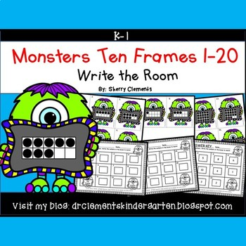 Monsters Write the Room (Ten Frames 1-20)