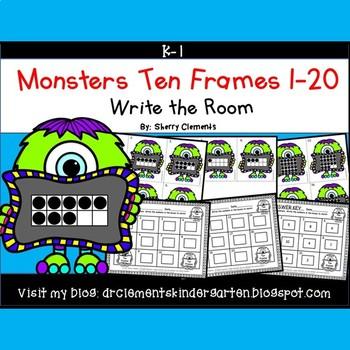 Monsters Write the Room (Ten Frames 1-20)