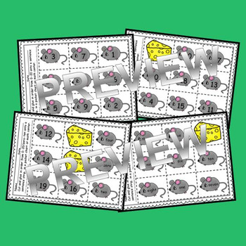 Mouse Sequencing 0-20 and Number Words (zero-ten) (Set 2)