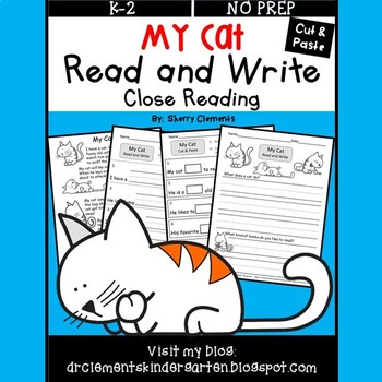 My Cat Read and Write (Cut and Paste) (Close Reading)