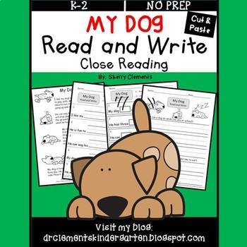 My Dog Read and Write (Cut and Paste)