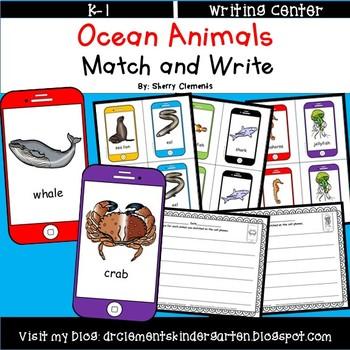Summer Ocean Animals Match and Write