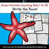 Summer Ocean Animals Write the Room (Counting Sets 1-20)
