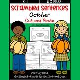 October Scrambled Sentences