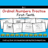 Ordinal Numbers Practice (First-Tenth) (Set 2)
