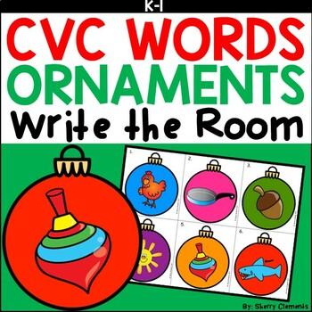 Ornaments Write the Room (CVC Words)