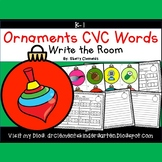 Ornaments Write the Room (CVC Words)