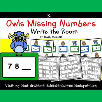 Owls Write the Room (Missing Numbers 0-10)