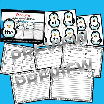 Penguins Sight Word Search