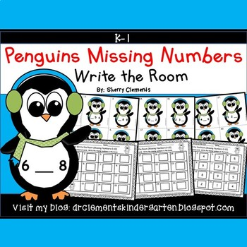 Penguins Write the Room (Missing Numbers 0-10)