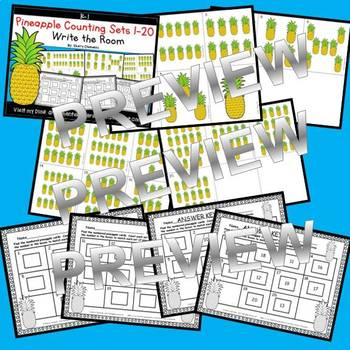 Pineapple Write the Room (Counting Sets 1-20)
