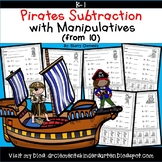 Pirates Subtraction with Manipulatives From 10
