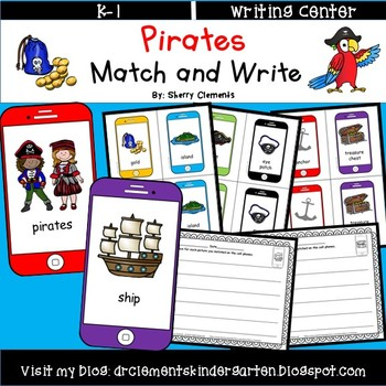 Pirates Match and Write