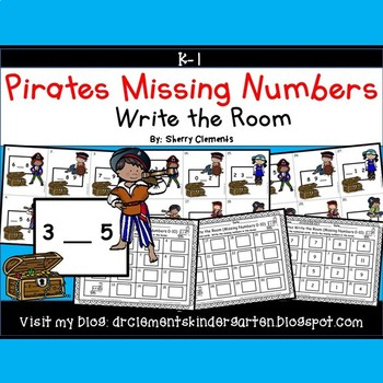 Pirates Write the Room (Missing Numbers 0-10)